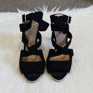 Zara Trafaluc Black Suede Heel